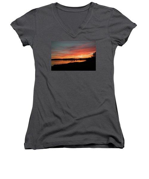 Arzal Sunset Women's V-Neck T-Shirt