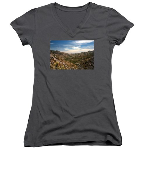 Women's V-Neck T-Shirt (Junior Cut) featuring the photograph As Far As The Eye Can See by Joe Kozlowski