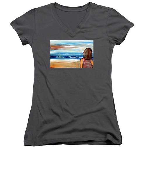 As One Women's V-Neck T-Shirt