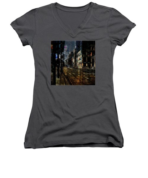 As The Sun Goes Down Women's V-Neck (Athletic Fit)