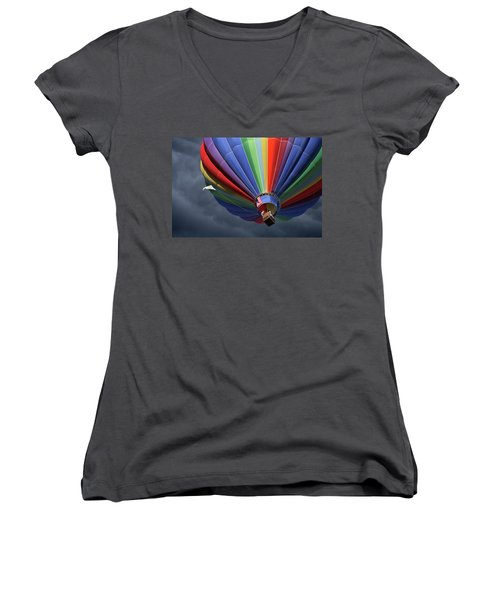 Ascending To The Storm Women's V-Neck