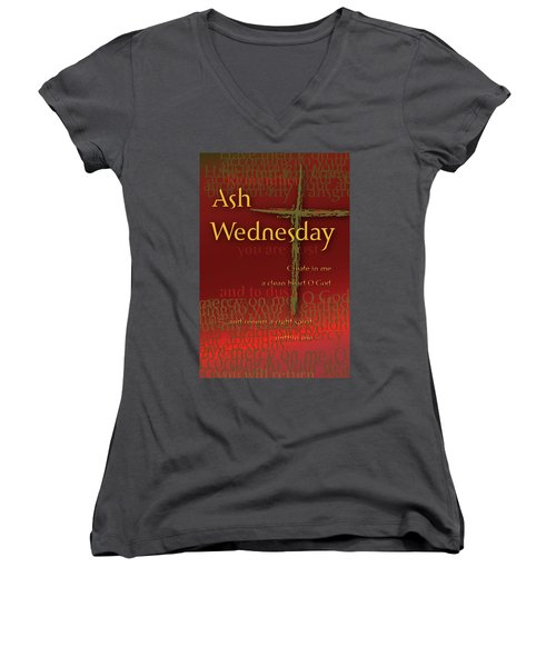 Ash Wednesday Women's V-Neck (Athletic Fit)