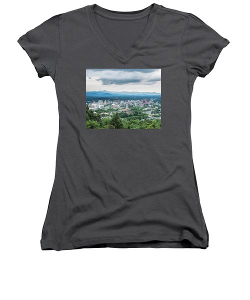 Asheville Afternoon Cropped Women's V-Neck