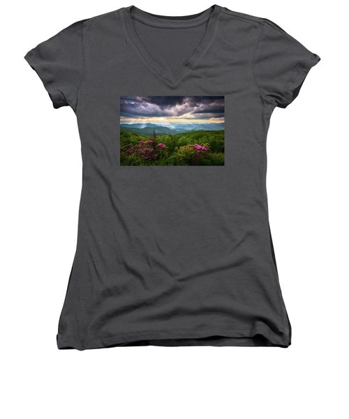 Asheville Nc Blue Ridge Parkway Scenic Landscape Photography Women's V-Neck