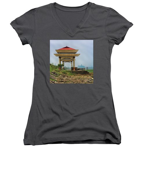 Asian Architecture I Women's V-Neck (Athletic Fit)