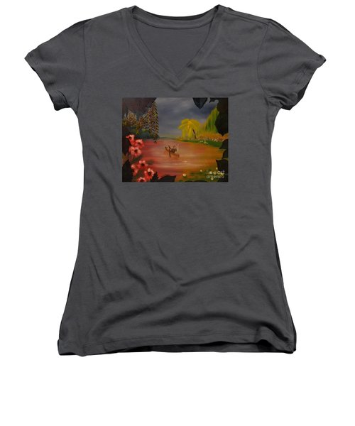 Asian Lillies Women's V-Neck