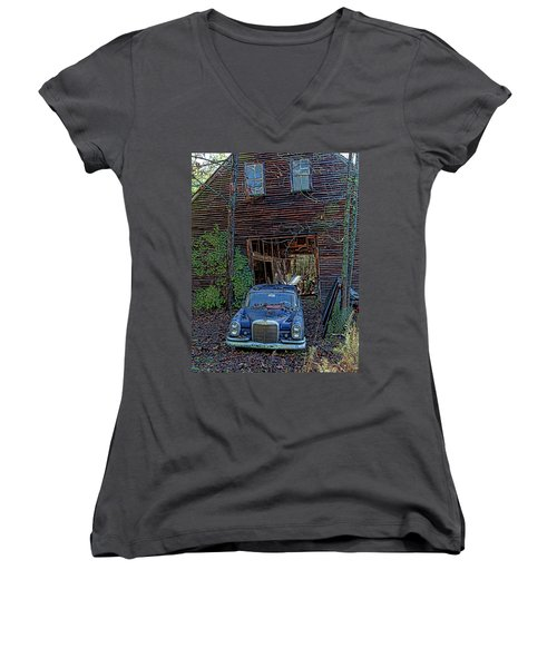 Asleep At The Wheel Women's V-Neck (Athletic Fit)