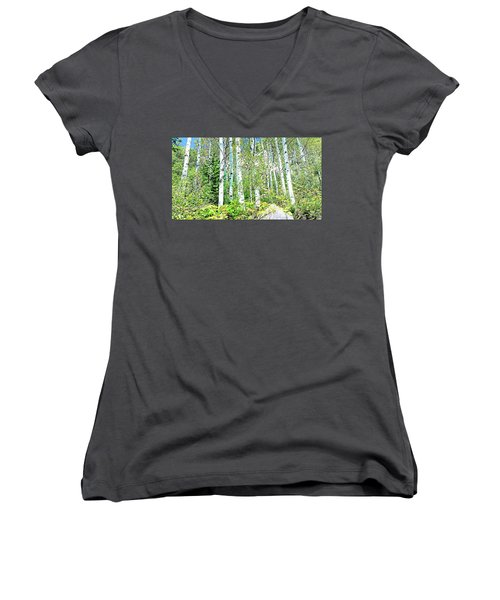 Aspen Splender Steamboat Springs Women's V-Neck T-Shirt