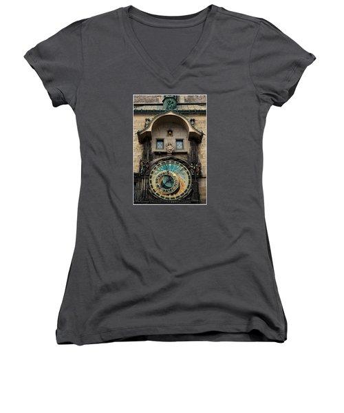 Astronomical Clock Women's V-Neck