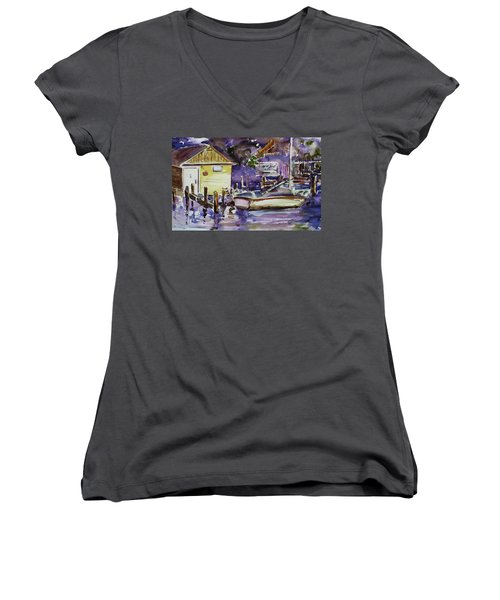 At Boat House 3 Women's V-Neck
