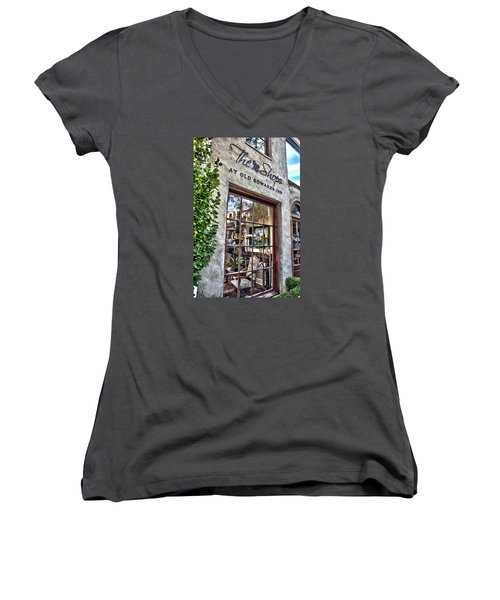 at Old Edwards Inn Women's V-Neck T-Shirt (Junior Cut) by Allen Carroll