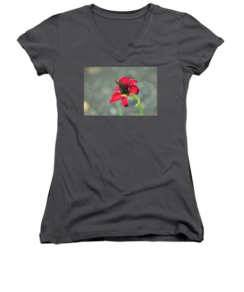 At One With The Orchid 2 Women's V-Neck