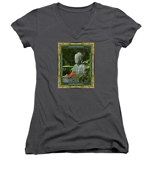 Women's V-Neck T-Shirt (Junior Cut) featuring the photograph At Rest by Bell And Todd