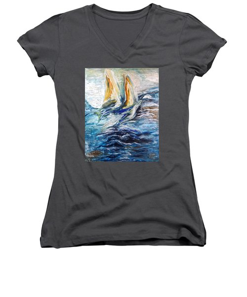 At Sea Women's V-Neck