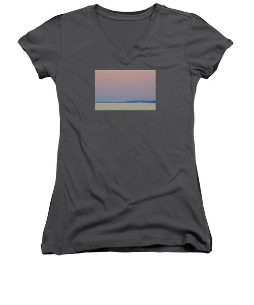 Women's V-Neck T-Shirt (Junior Cut) featuring the photograph At Speed 2  by Lyle Crump