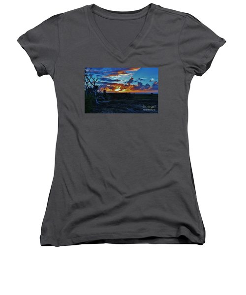 At Sunset Women's V-Neck (Athletic Fit)