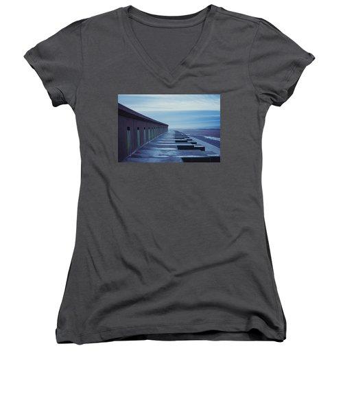 At The Beach Women's V-Neck T-Shirt