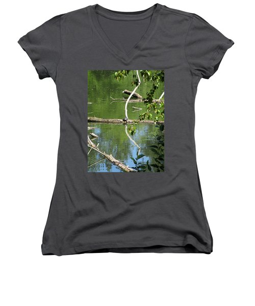 At The Crossroads Women's V-Neck T-Shirt