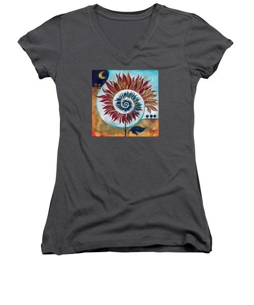 At The Edge Of Day And Night Women's V-Neck T-Shirt