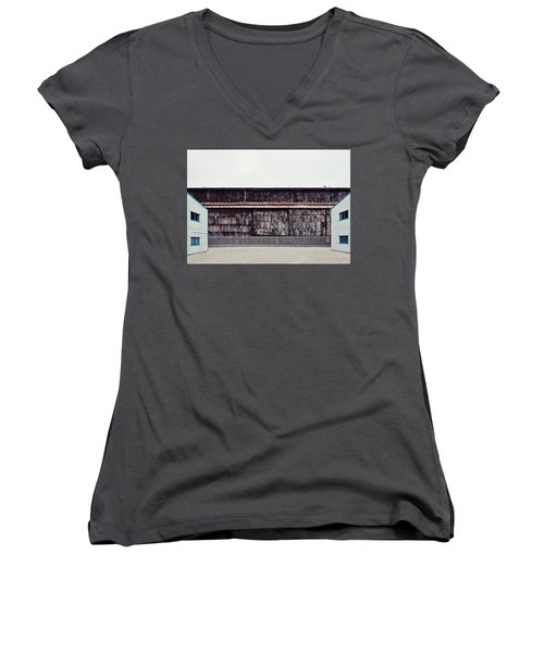 At The Edge Of Town Women's V-Neck T-Shirt