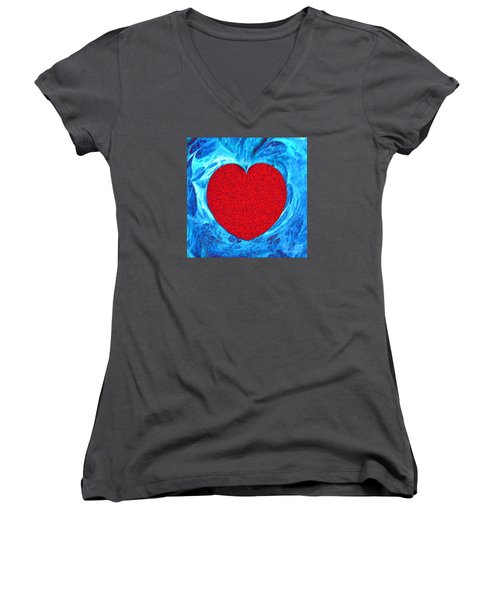 Women's V-Neck T-Shirt (Junior Cut) featuring the photograph At The Heart Of The Matter by Merton Allen