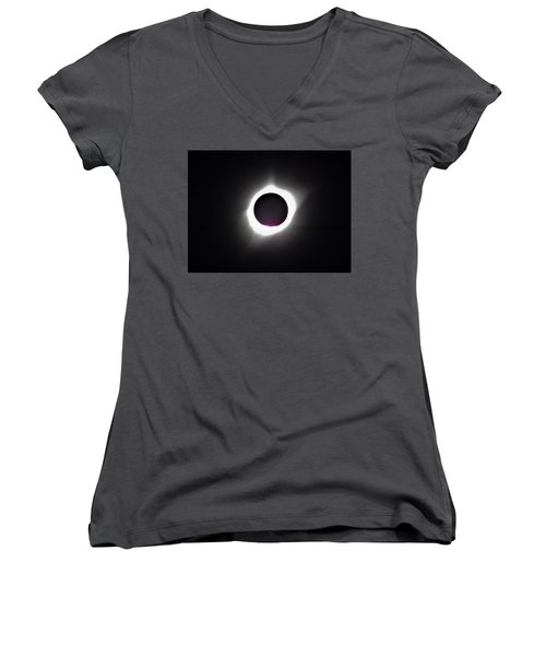 At The Moment Of Totality Women's V-Neck