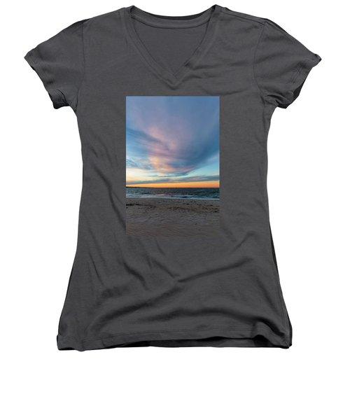 At Twilight Women's V-Neck T-Shirt (Junior Cut) by David Cote