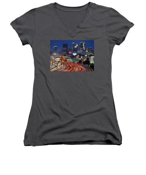 Atlanta Heavy Traffic Women's V-Neck T-Shirt