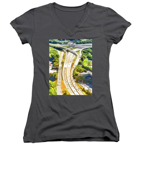 Atlanta Highways Women's V-Neck