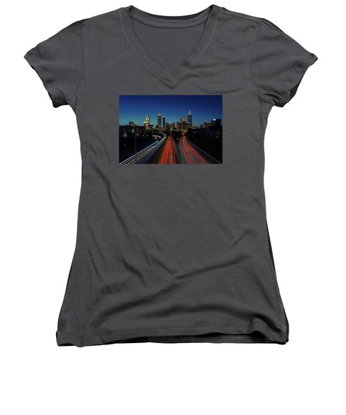 Atlanta Skyline 1 Women's V-Neck