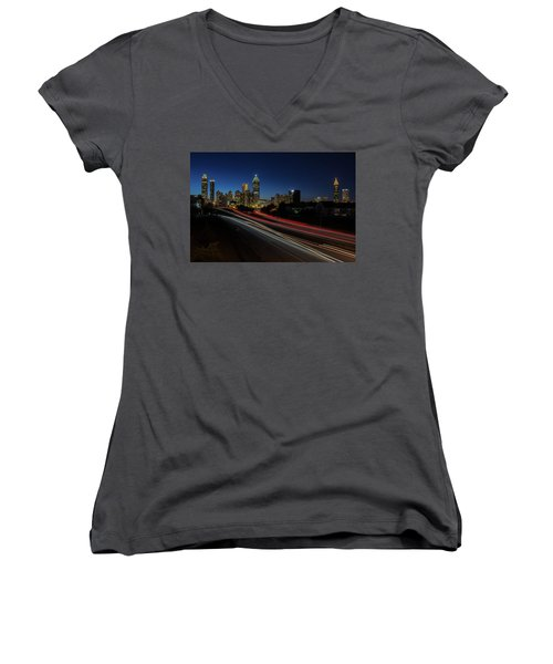 Atlanta Skyline 2 Women's V-Neck