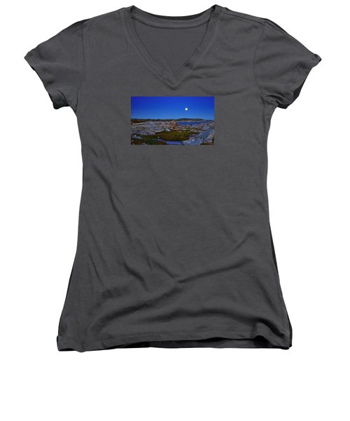 Atlantic Moon  Women's V-Neck T-Shirt