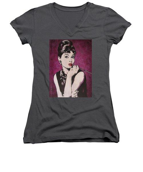 Audrey Hepburn - Breakfast Women's V-Neck