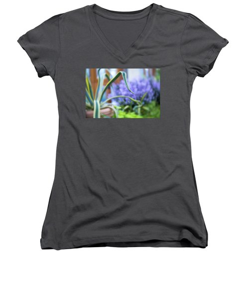 Women's V-Neck featuring the photograph Audrey IIi by Brian Hale