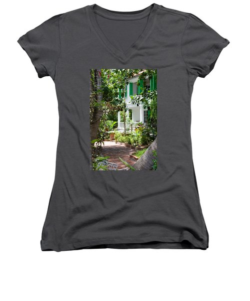 Audubon House Entranceway Women's V-Neck (Athletic Fit)