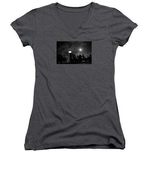 August Moon Women's V-Neck T-Shirt (Junior Cut) by Adria Trail
