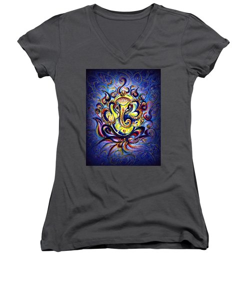 Aum Ganesha - Bliss Women's V-Neck