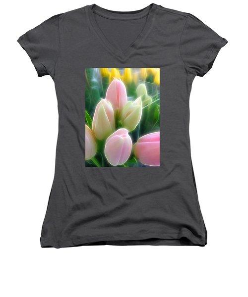 Aura Of Tulip Women's V-Neck (Athletic Fit)