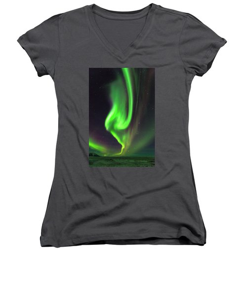 Aurora Burst Women's V-Neck T-Shirt