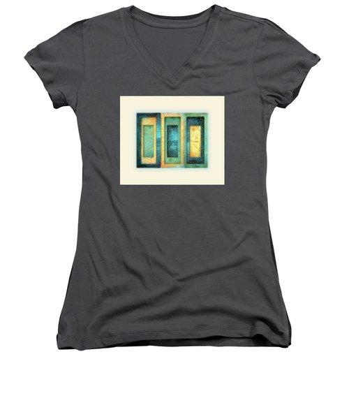 Aurora's Vision Women's V-Neck T-Shirt (Junior Cut) by Deborah Smith
