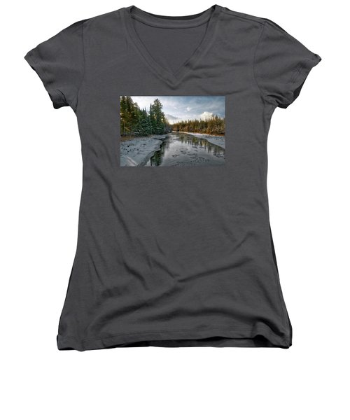 Ausable River 1282 Women's V-Neck T-Shirt