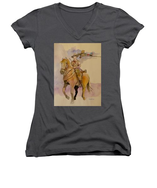 Australian Light Horse Regiment. Women's V-Neck (Athletic Fit)
