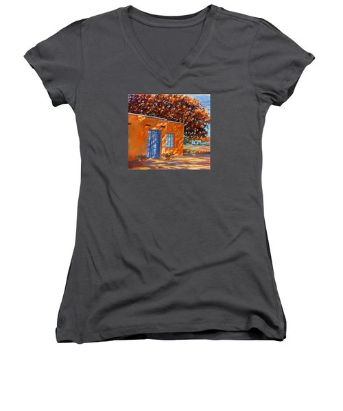 Autumn Afternoon Women's V-Neck T-Shirt (Junior Cut) by Ann Peck