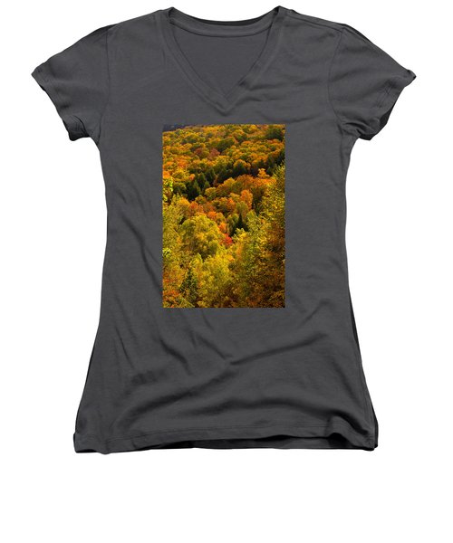 Autumn At Acadia Women's V-Neck