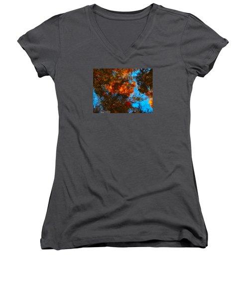 Autumn B 2015 35 Women's V-Neck T-Shirt (Junior Cut) by George Ramos