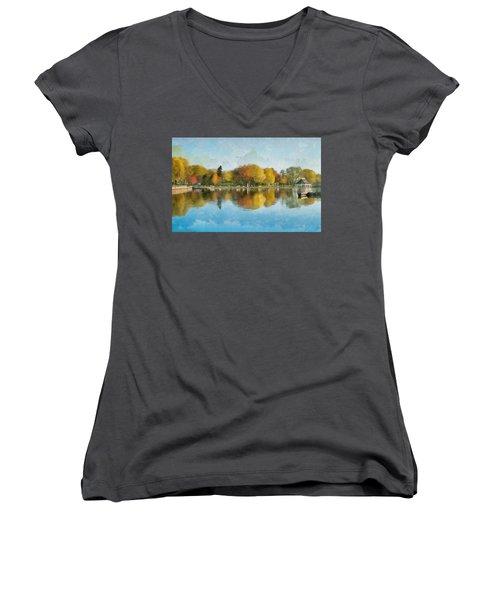 Autumn Blues Women's V-Neck T-Shirt