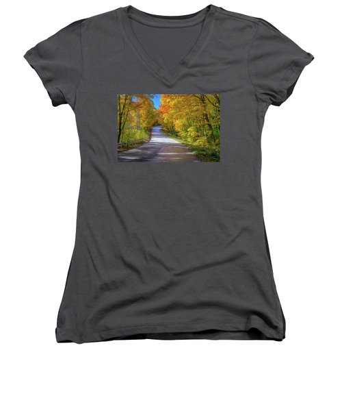 Autumn Drive  Women's V-Neck T-Shirt