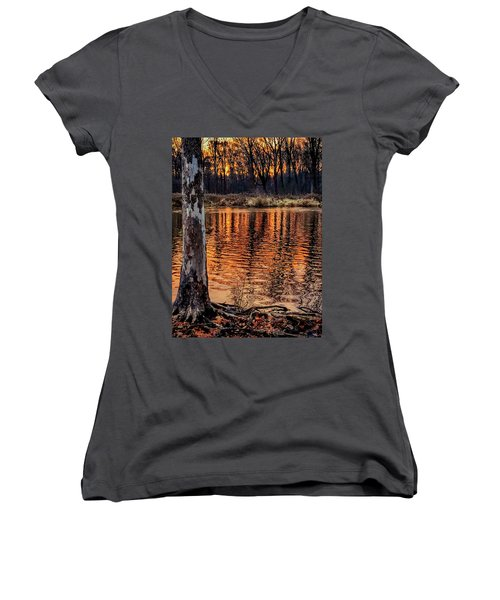 Autumn Gold Women's V-Neck