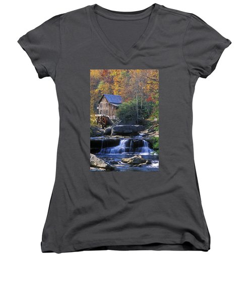 Autumn Grist Mill - Fs000141 Women's V-Neck (Athletic Fit)