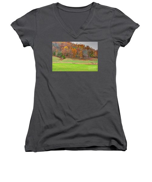 Autumn Hillside Women's V-Neck